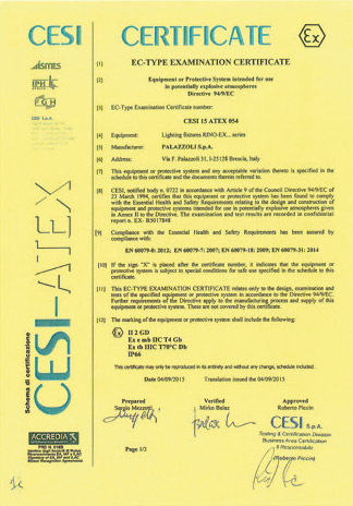 Certificate CESI