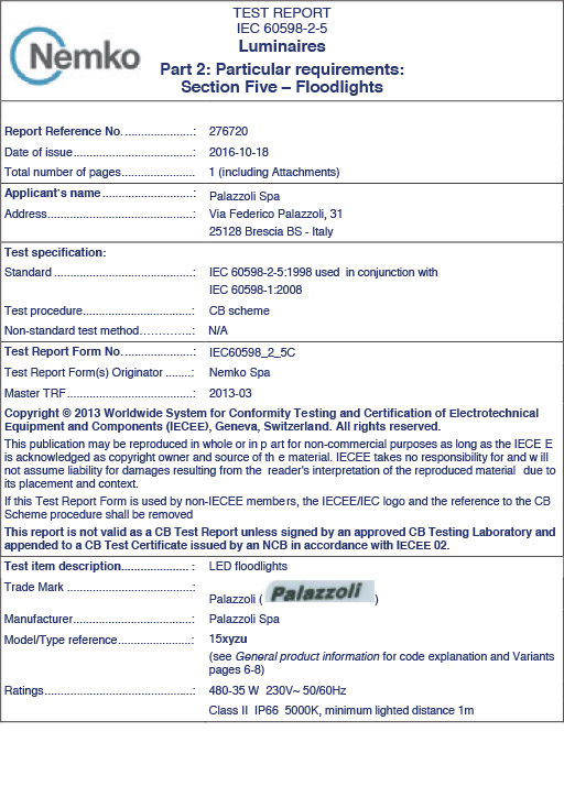 Certificate NEMKO
